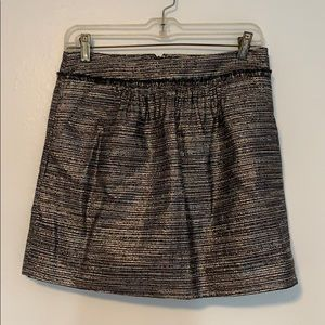 Gap Metallic Tweed Miniskirt